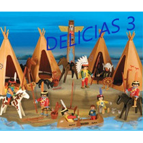 Playmobil Set De Indios Art. 1 - 3483 + 8 Figuras