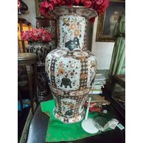 Potiche Oriental 90 Cm Impresionante!pintado A Mano