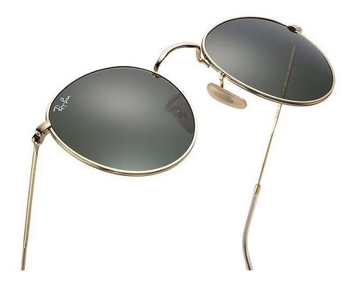 c639f44350 Gafas De Sol Ray Ban Round Metal 3447 Italianos Originales!!