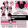 Kit Imprimible Candy Bar Minnie Mouse - Editable +fonts #201