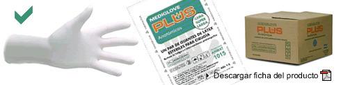 Guantes De Látex Para Cirugía Plus - (50 Pares) Mediglove
