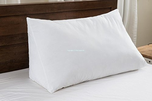 One - Wedge Pillow - 100% Cotton Shell - For Bed, Couch, Fl