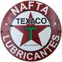 Carteles Antiguos Chapa Gigante 100cm Circular Texaco B-006
