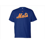 Remera New York Mets Majestic Talle L Juvenil Mlb Baseball