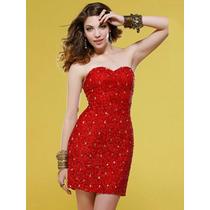 Vestido Strapples Rojo Con Cierre! Unico Modelo!!!