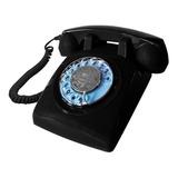 Teléfono Vintage Retro Línea A Disco Nuevo 4 Colores Alclick