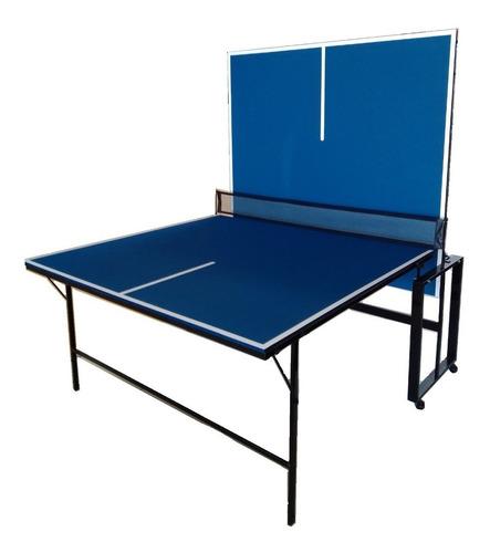 Mesa Ping Pong 12mm Tenis De Mesa Fronton Plegable Red