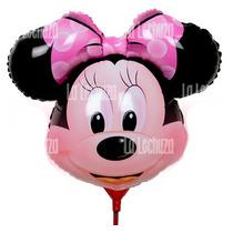 Globos Metalizados Minnie Mouse Pack X 10 Cotillón