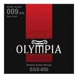 Encordado P Guit Electrica Olympia 09 / 010 Acero Nickel Egs