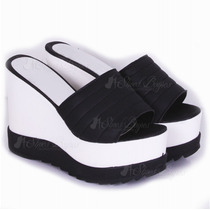 Zuecos Con Taco Chino Modelo Black De Shoes Bayres