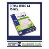 Resma A4/75 Grs Autor Consulta  Envios Gratis!!!!