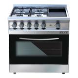 Cocina Industrial Saho Jitaku Grill 820 4 Hornallas  A Gas Plateada/negra Puerta Visor