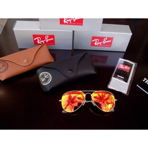 Lentes De Sol Ray Ban Aviator Flash Lenses Oferta 40% 0ff