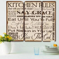 Cuadro De Madera Kitchen Rules