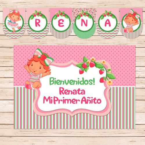 26cfdb190 Kit Imprimible Frutillita Bebe Strawberry Cumpleaños Candy en venta ...