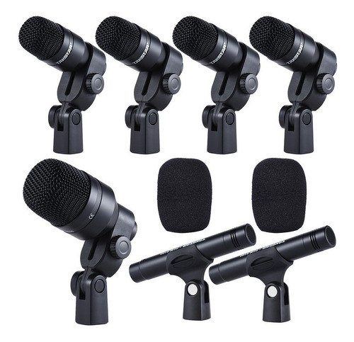 Set De Micrófonos Takstar Dms-7as Condensador Cardioide Negro