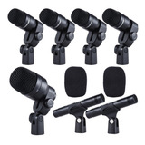 Set De Micrófonos Takstar Dms-7as Condensador Negro
