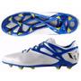 Botines Adidas Messi 15.1 Fg Ag White/blue Profesional