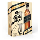 Whisky Johnnie Walker Black Label Negro + 2 Vasos