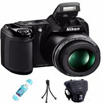 Nikon Coolpix L340 Supera L330 Camara+bolso +lector +tripode