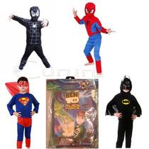 Disfraz De Batman Hombre Araña Rojo Negro Ben 10 Superman