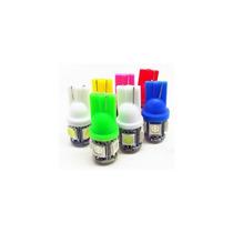 Led T10 W5w 5 Leds Lampara Luz Posicion - Varios Colores -