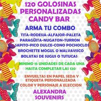 Golosinas Personalizas Candy Bar 30 Chicos