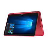 Netbook Dell Inspiron 2en1 A6 32gb Ssd 4gb 11.6 Win10 Roja -