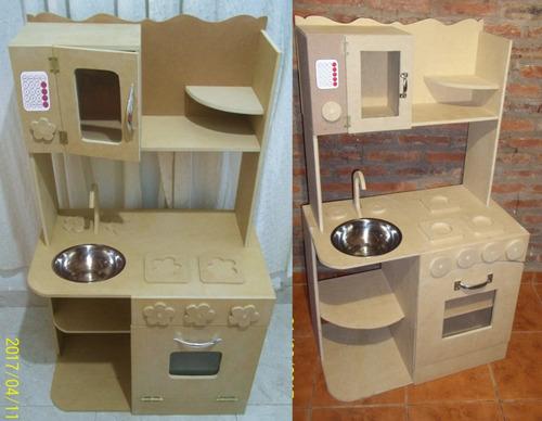 Cocina Infantil De Juguete Madera Cocinita Casitas Muebles - $ 2490 ...