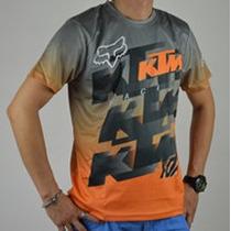 Remera Casual Ktm Mangas Cortas Motocross Atv Quads Enduro