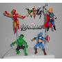 Los Vengadores, 12 Cm, Marvel Torta O Adorno, Porcelana Fria