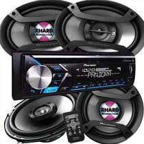 Pioneer Estéreo Con Bluetooth Cd Usb + 4 Parlantes 6x9 + 6,5