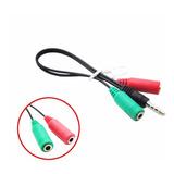 Adaptador Mini Plug Jack Ps4 A Auricular Micrófono Splitter