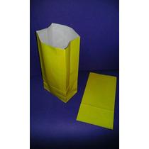 Bolsa De Papel Amarilla Lisas Tipo Sobre ( X 10 )