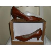 Zapatos De Cuero N° 36 Color Suela Marca Fb