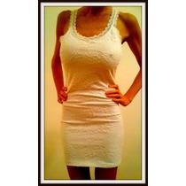 Vestido De Encaje Al Cuerpo Con Espalda Descubierta