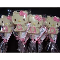 12 Chupetines De Chocolate Kitty