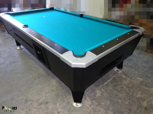 Mesa De Pool Bisonte Rutinado A Nuevo + Accesorios Nuevos!!