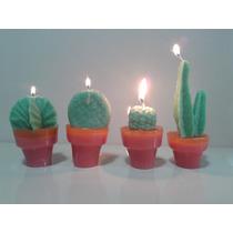 Cactus Con Maceta,souvenirs En Vela, Perfumados, 10 Cm Alto