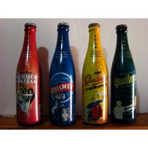 Set Botellas Quilmes Edicion Limitada Milenio Llenas