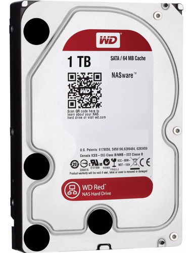 Disco Rigido Hd 1tb W.digital Red 5400 64mb Nas