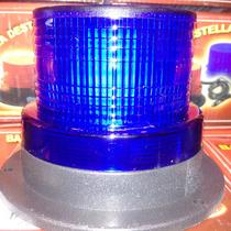 Baliza Led Azul 12 Volts Intermitente P/ Vehiculos Seguridad