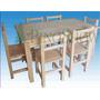 Mesa De Pino 160 X 80 + 6 Sillas Reforzadas
