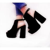 Sandalias Mujer Zapatos Botas Plataforma Alta Taco Palo