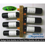 Bodega Vino Porta Botellas 6 Uds Vinos De Pared 40 X4x 10 Cm
