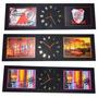 Reloj Cuadrado Pared Grande Triptico Decorativos Regalo Luz