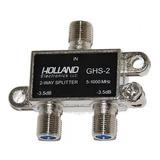Derivador X 2 Vias Cable Divisor Splitter Holland Catv , Tda