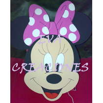 Piñata En Goma Eva!! Figura Mickey-minnie-kitty!!