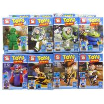 Toy Story Mini Figuras X 8 Con Base + Accesorios
