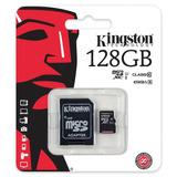 Memoria Micro Sd + Sd Kingston 128gb Clase 10 Tienda